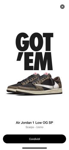 WTS Nike Air Jordan 1 Low x Travis Scott