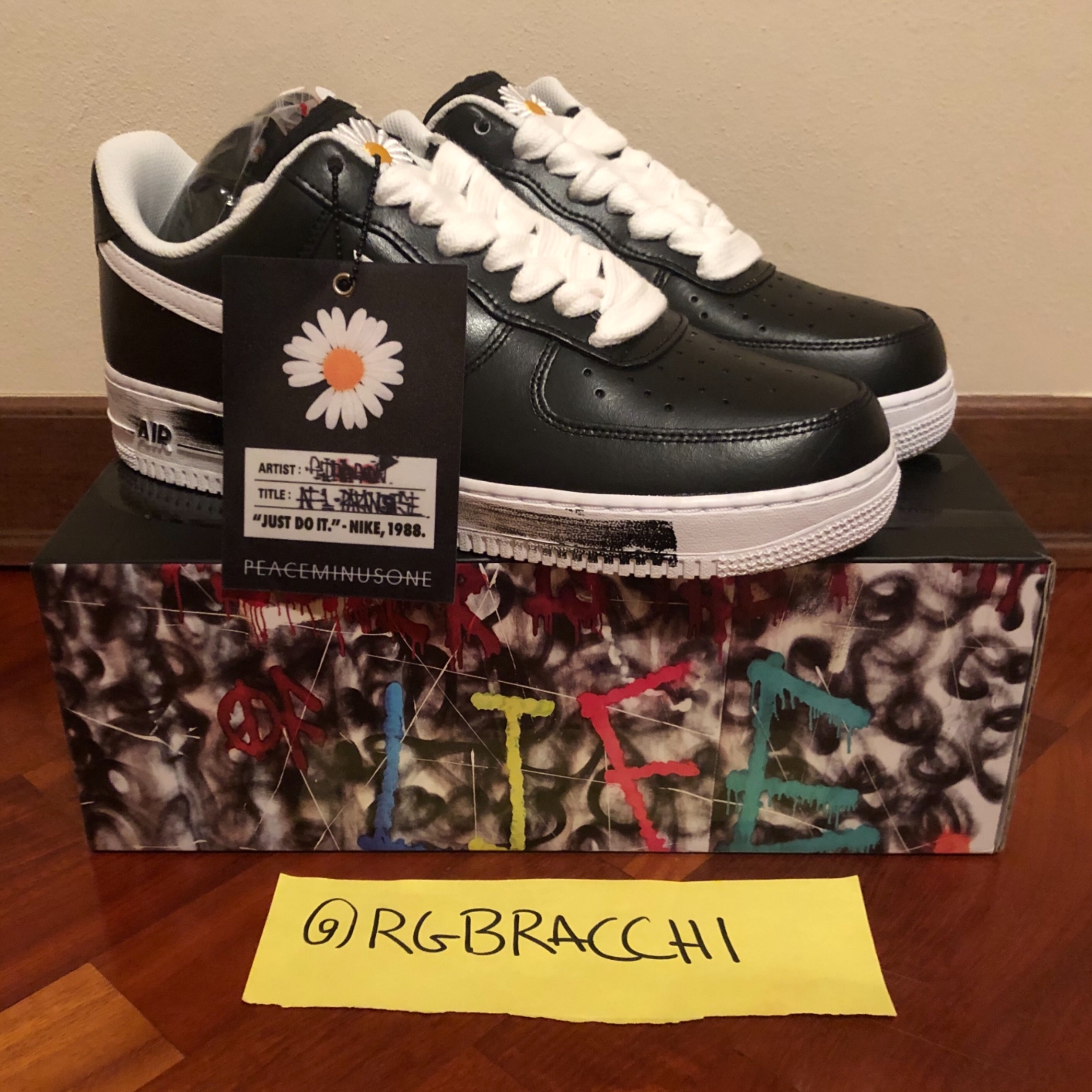 Nike Air Force 1 Low G Dragon Peaceminusone Para Noise us9.5