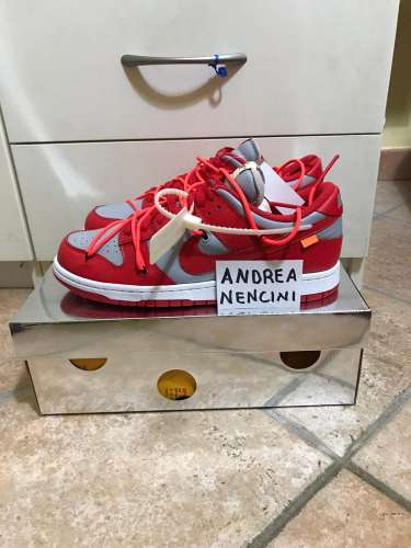 Nike dunk x off white red
