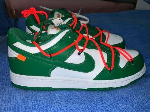 Nike dunk low x offwhite pinegreen