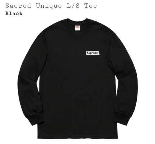 Supreme sacred unique L/S Tee Black