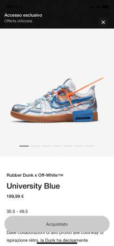 Nike air rubber dunk X off white rubber dunk