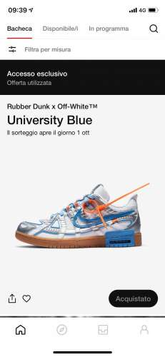 Nike rubber dunk x off white